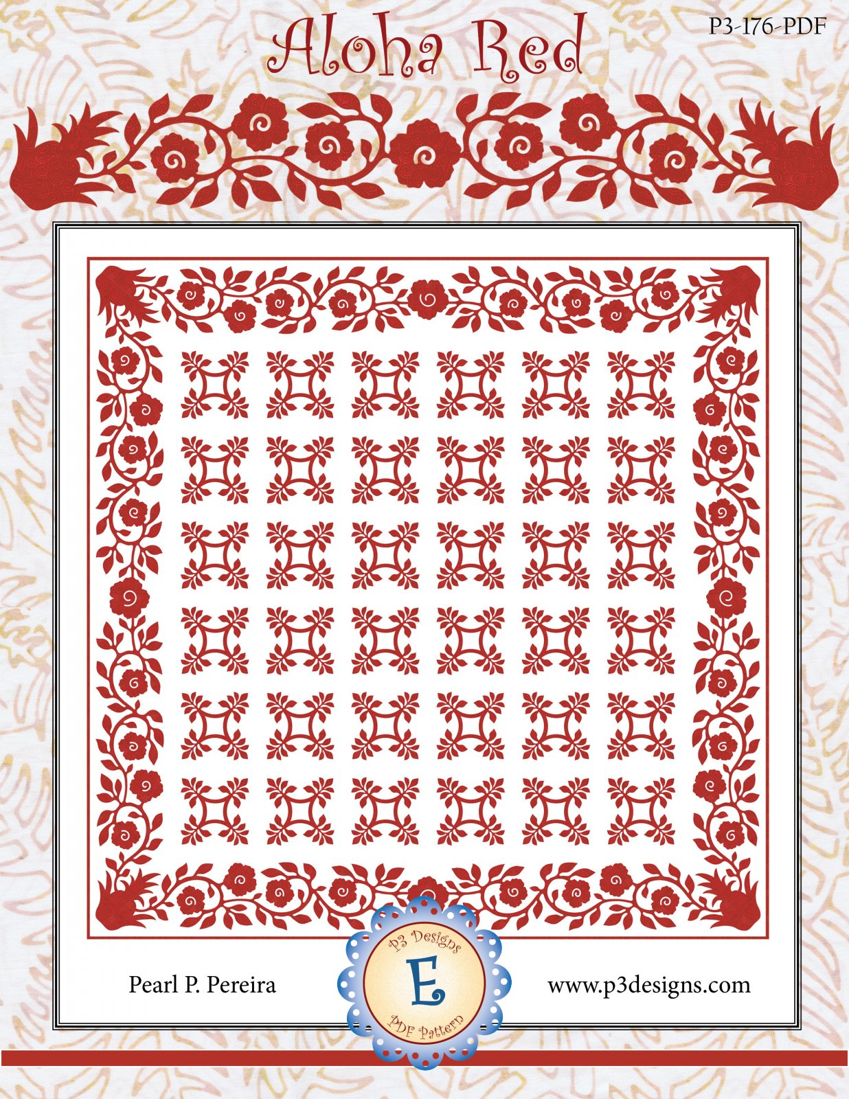 P3-176-PDF Aloha Red E-Pattern