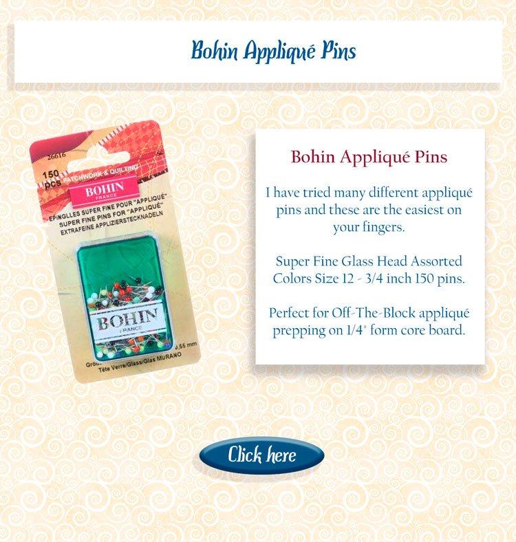appllique pins