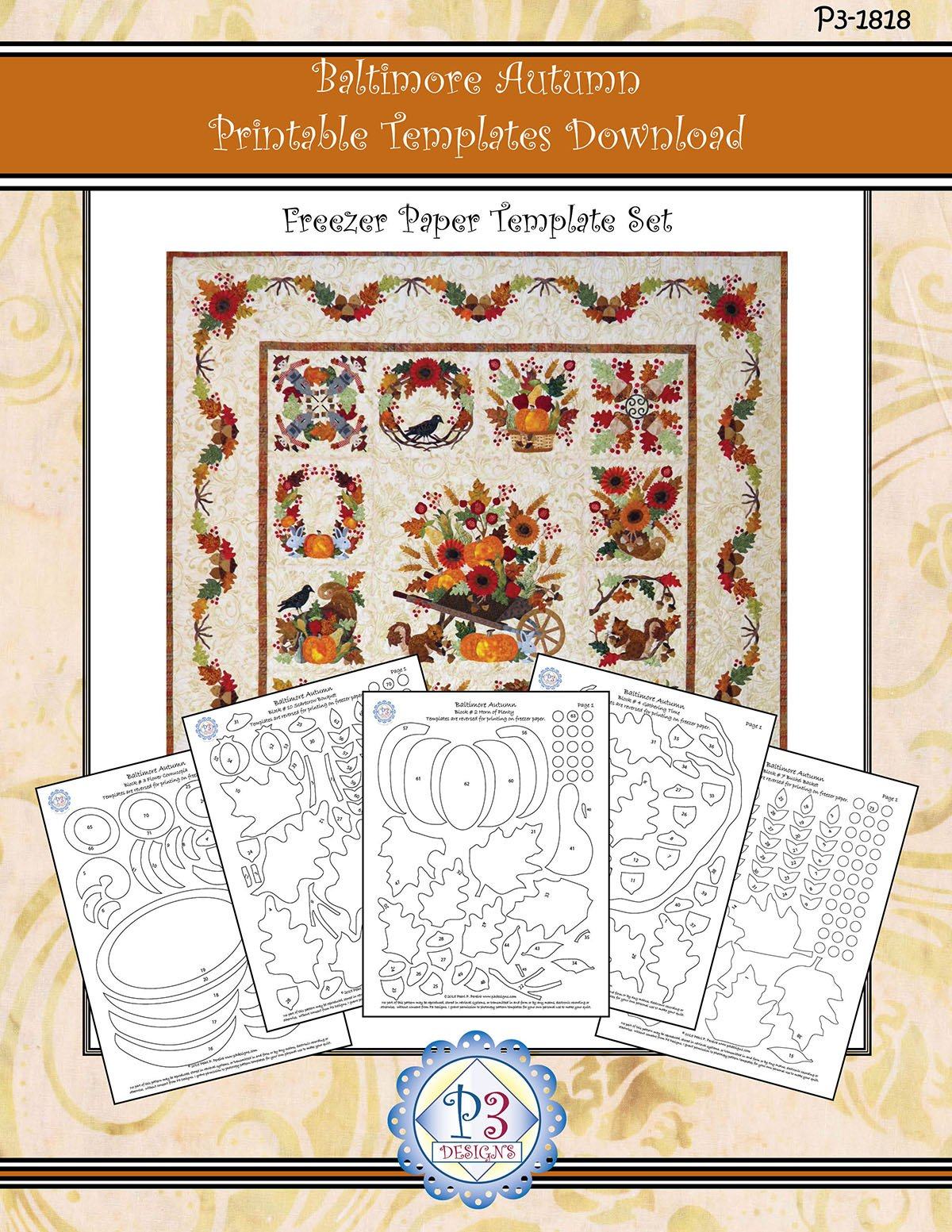 P3-1818 Baltimore Autumn Template Only PDF Download Set