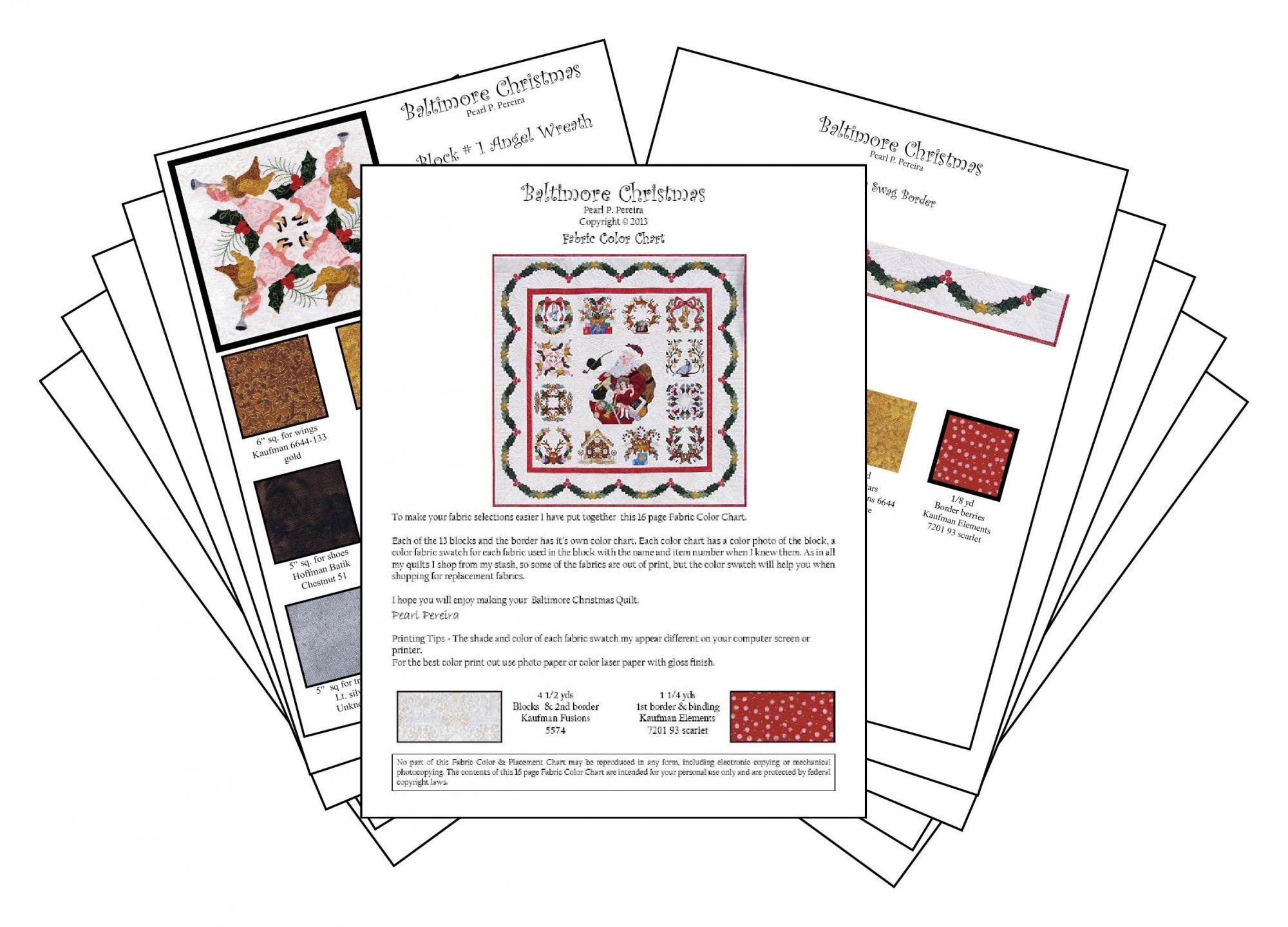 P3-1616 Baltimore Christmas Color Chart Download PDF