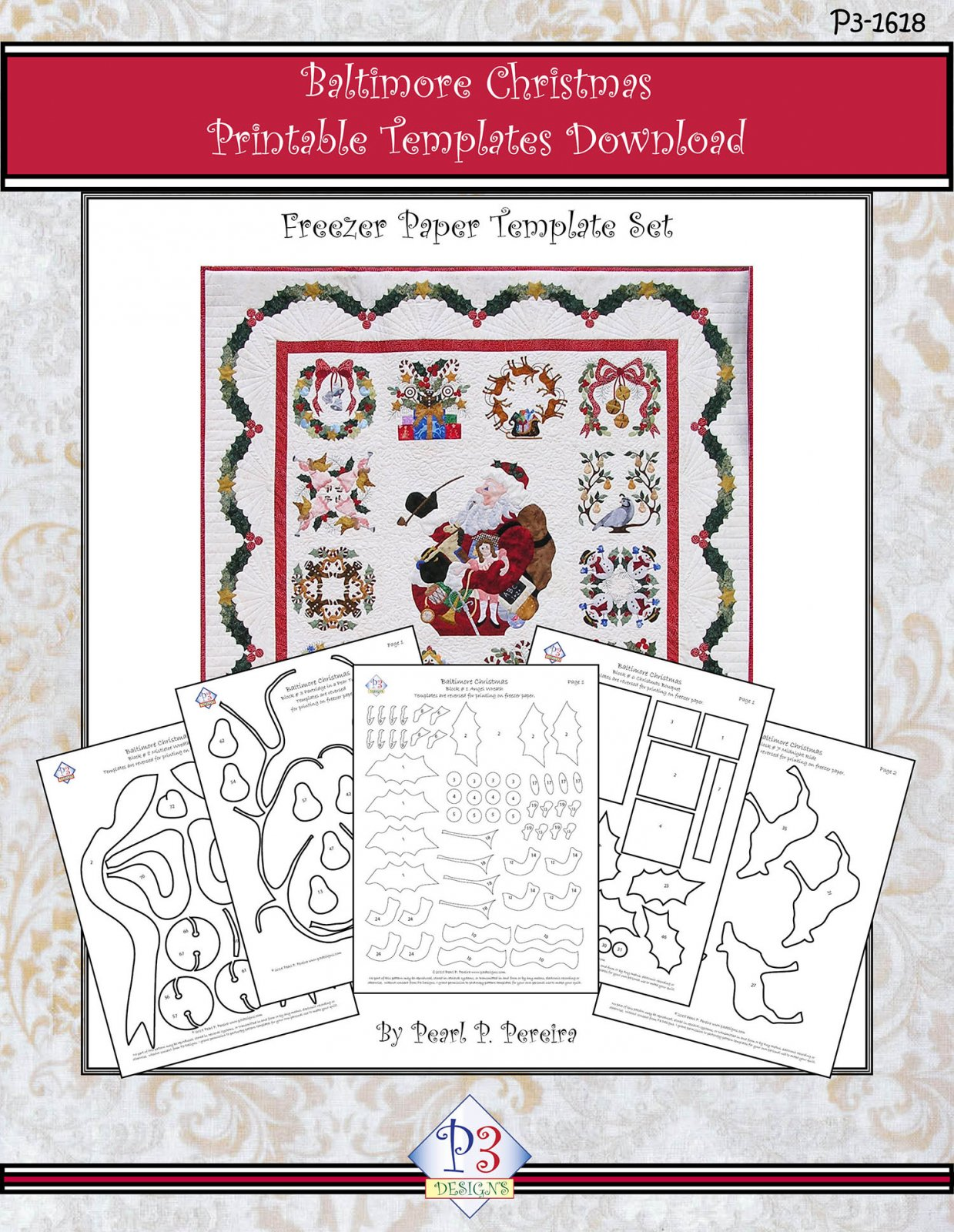 P3-1618 Baltimore Christmas Template only PDF Download