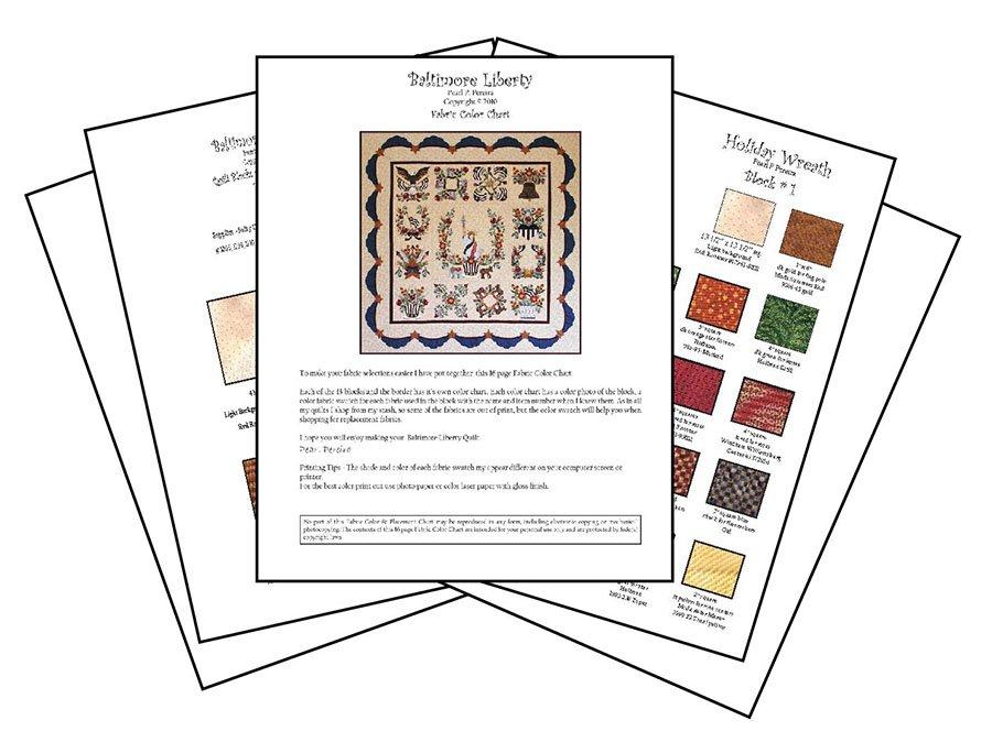 P3-1714 Baltimore Liberty Color Charts PDF Download
