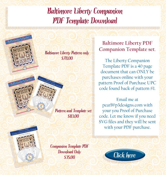 baltimore liberty pattern and template