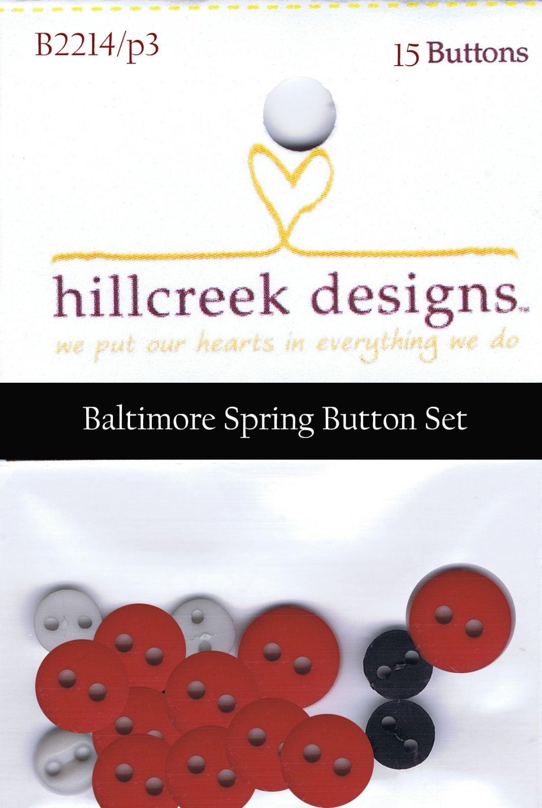 P3-171-1 Spring Bouquet Wall-Hanging Button Set