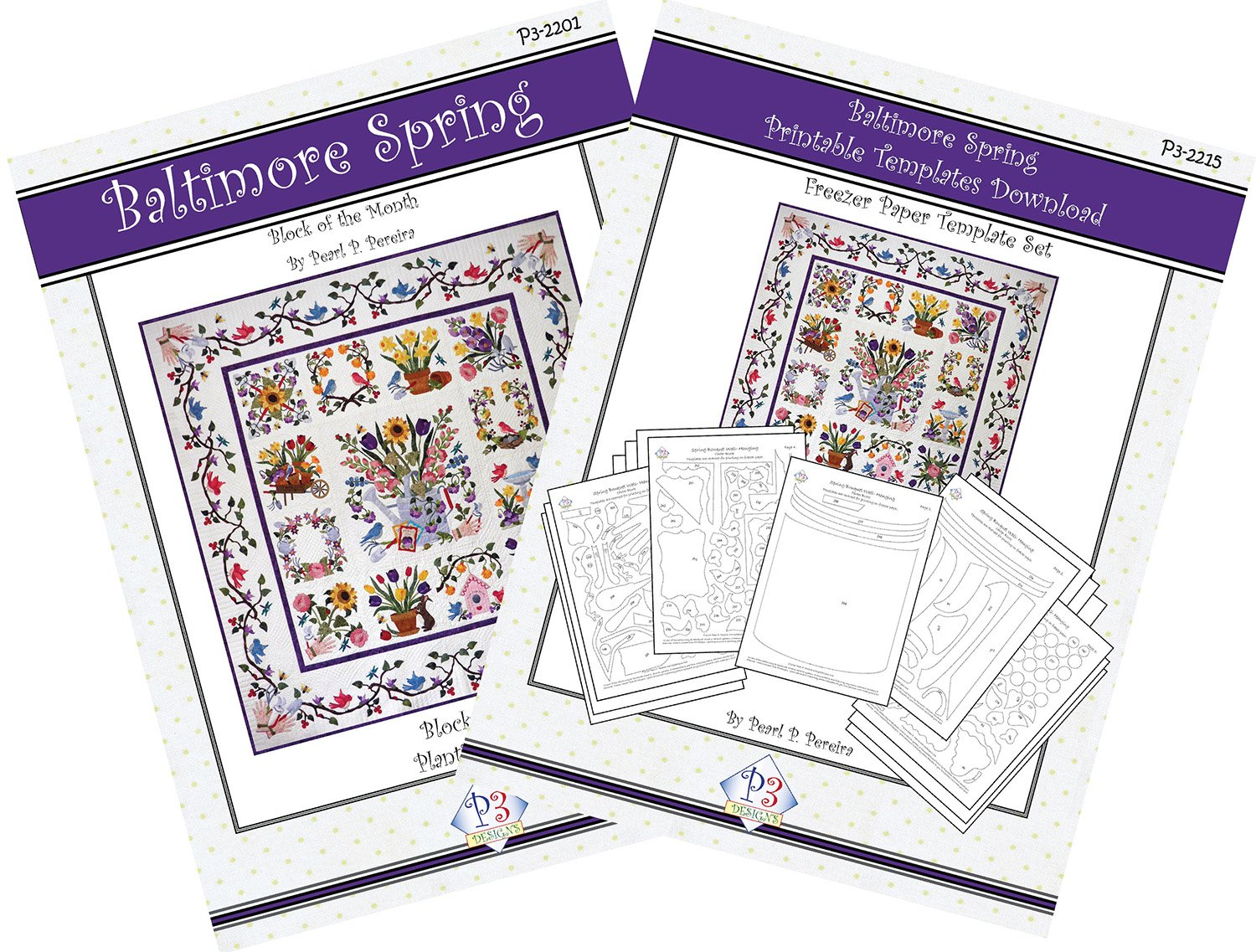 P3-2200-1 Baltimore Spring Pattern Set and Template Download