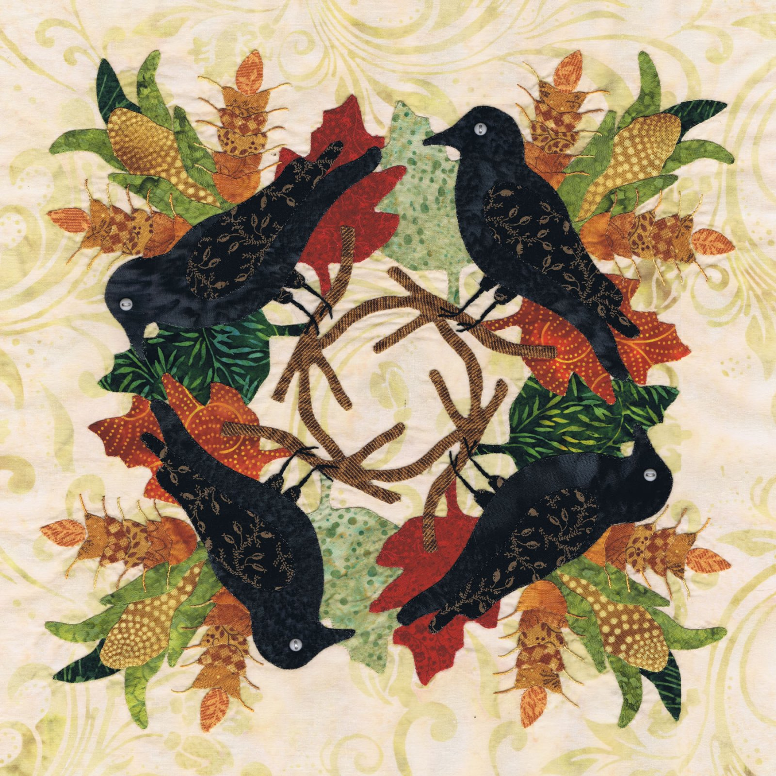 P3-1812 Crow Wreath