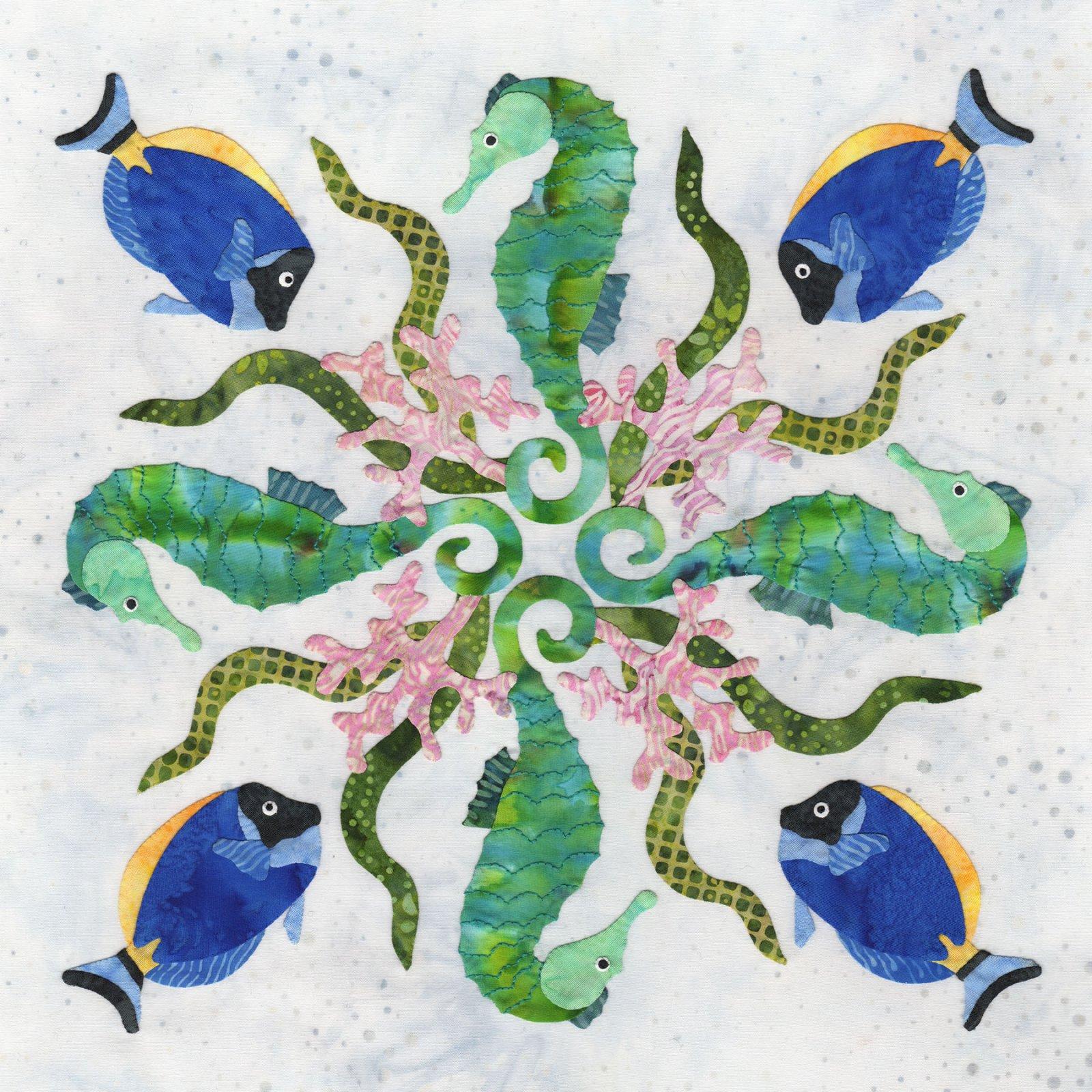 P3-2412 Seahorse Wreath