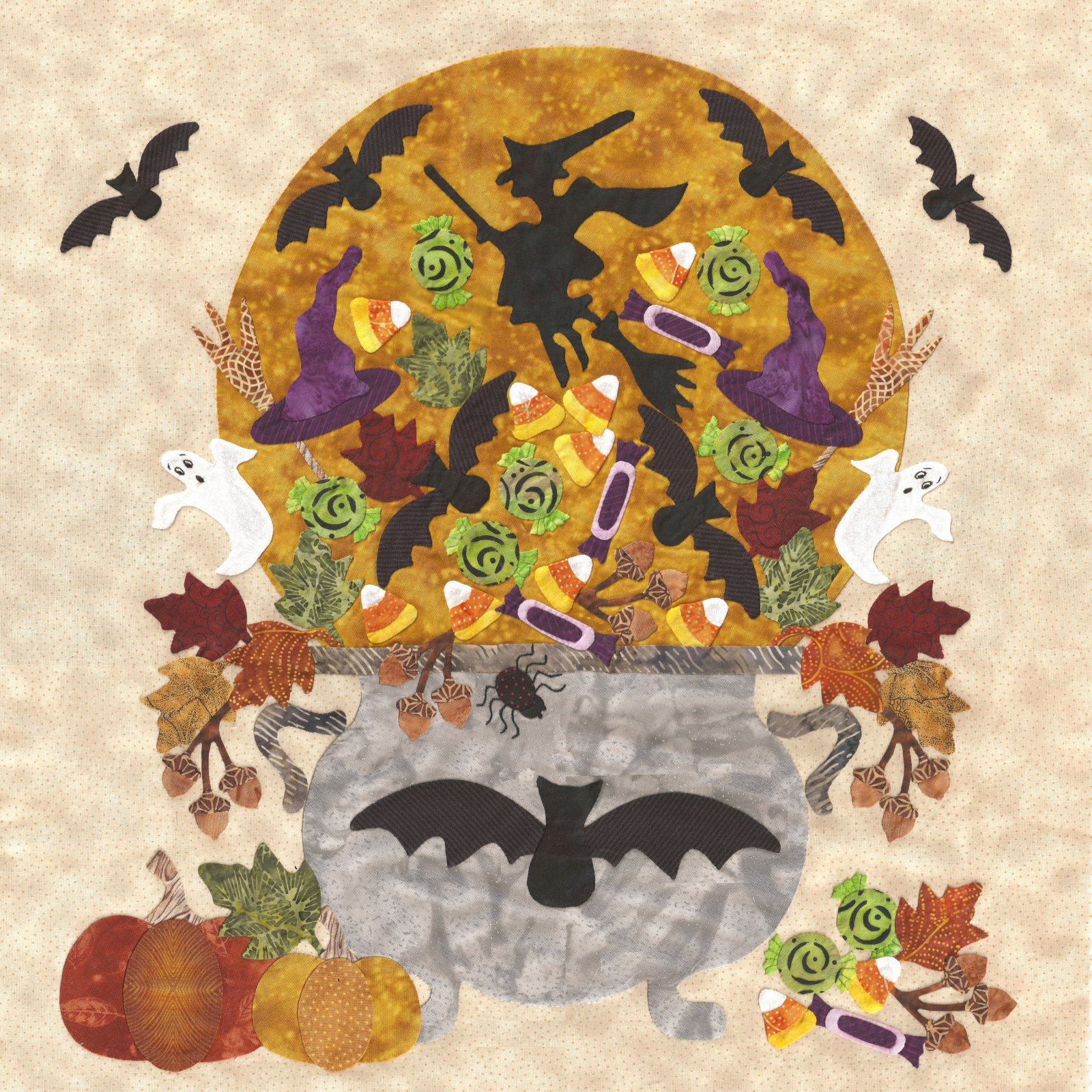 P3-1313 Cauldron of Candy & Bat Border