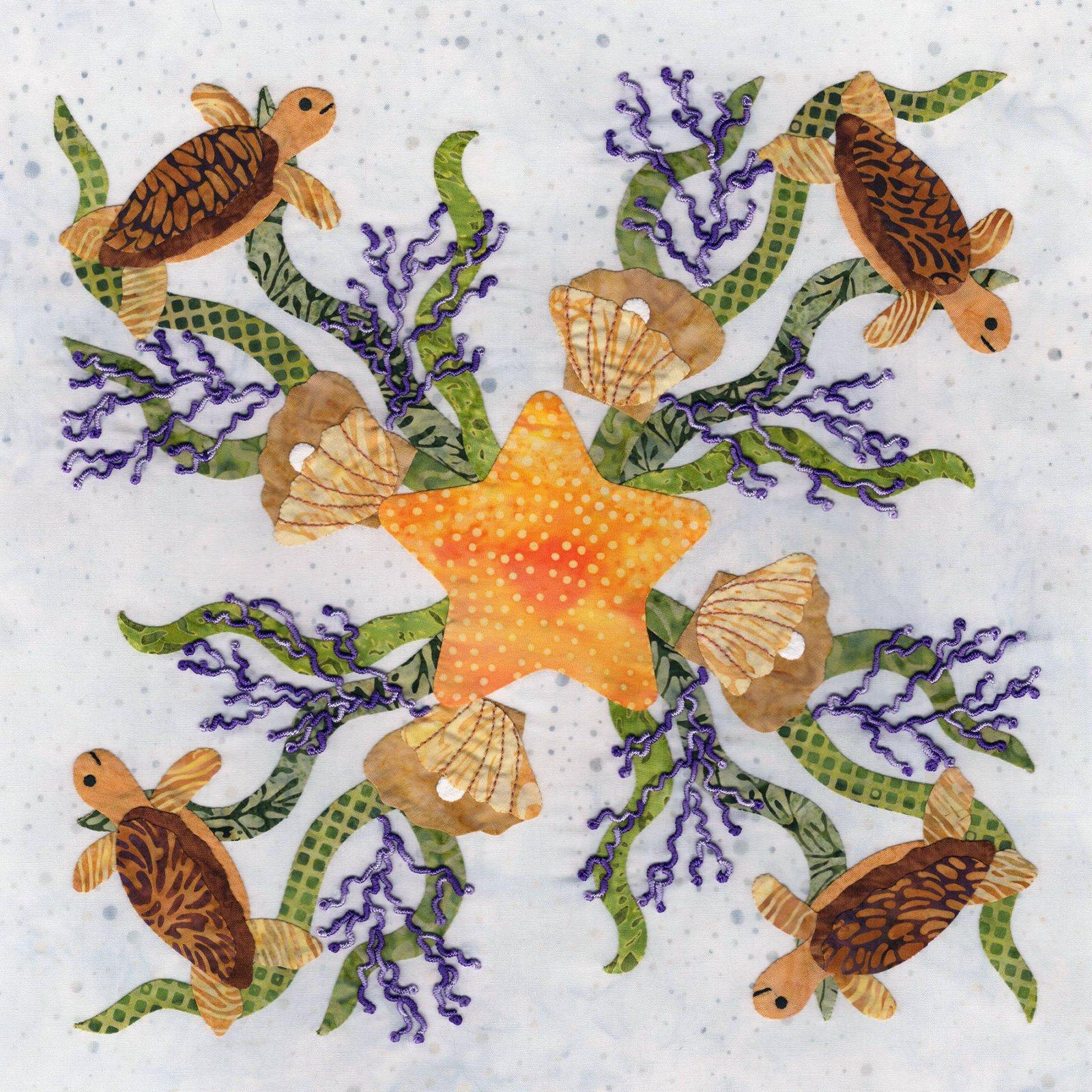 P3-2405 Starfish & Turtle Wreath