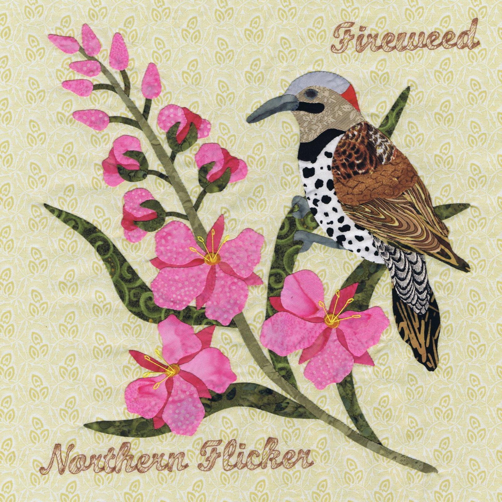 P3-1507 Northern Flicker & Fireweed