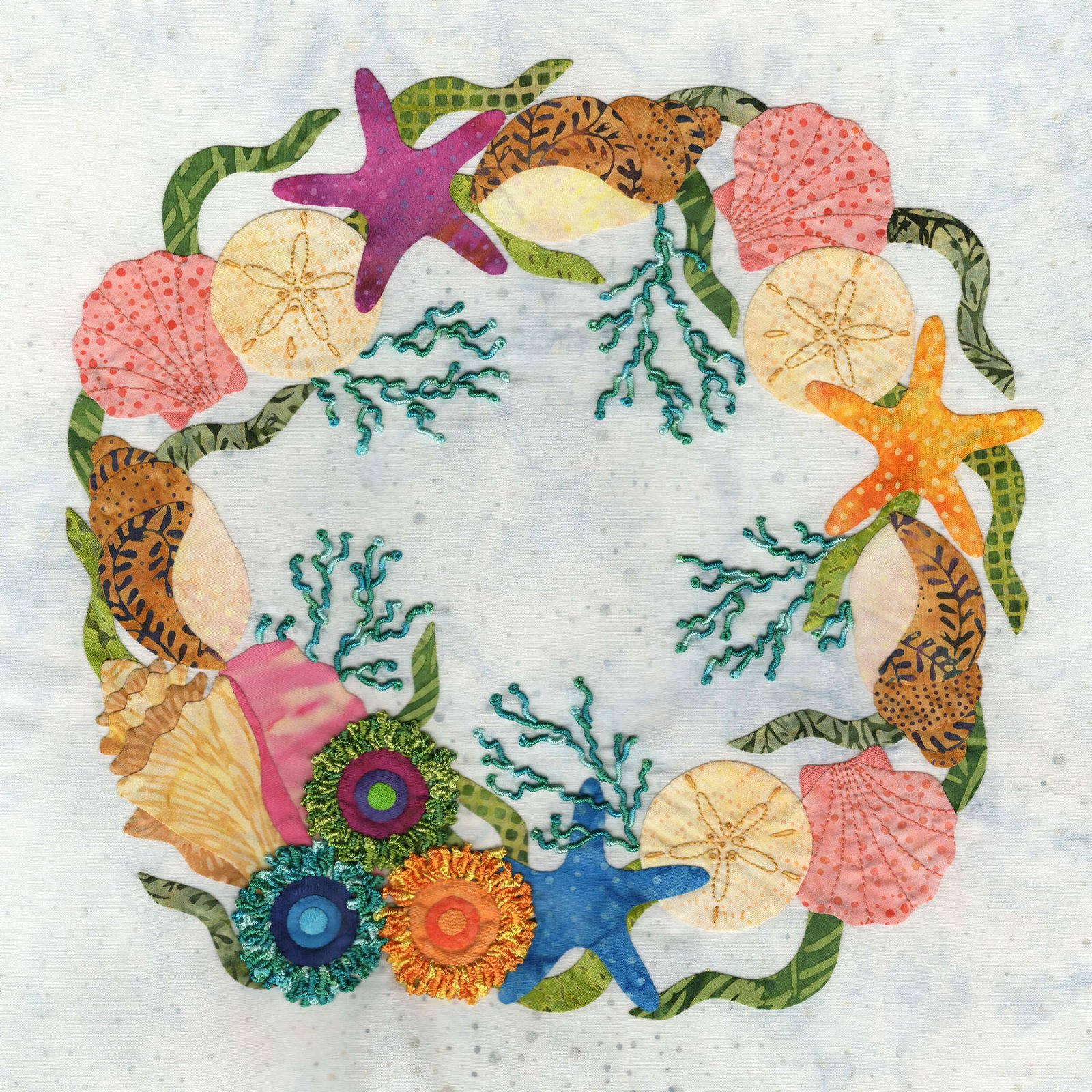 P3-2407 Sea Shel Wreath