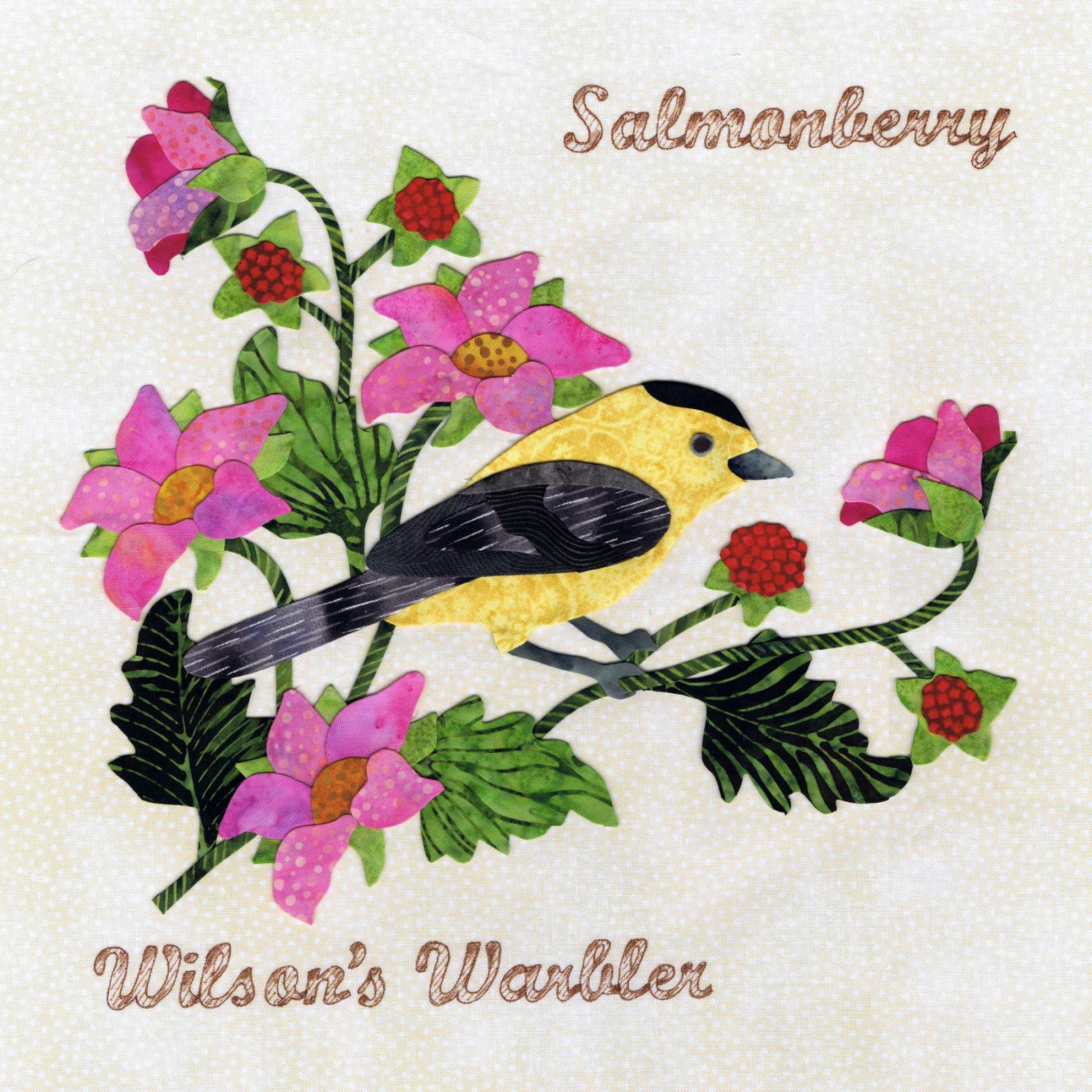 P3-1508 Wilso'sn Warbler & Salmonberry