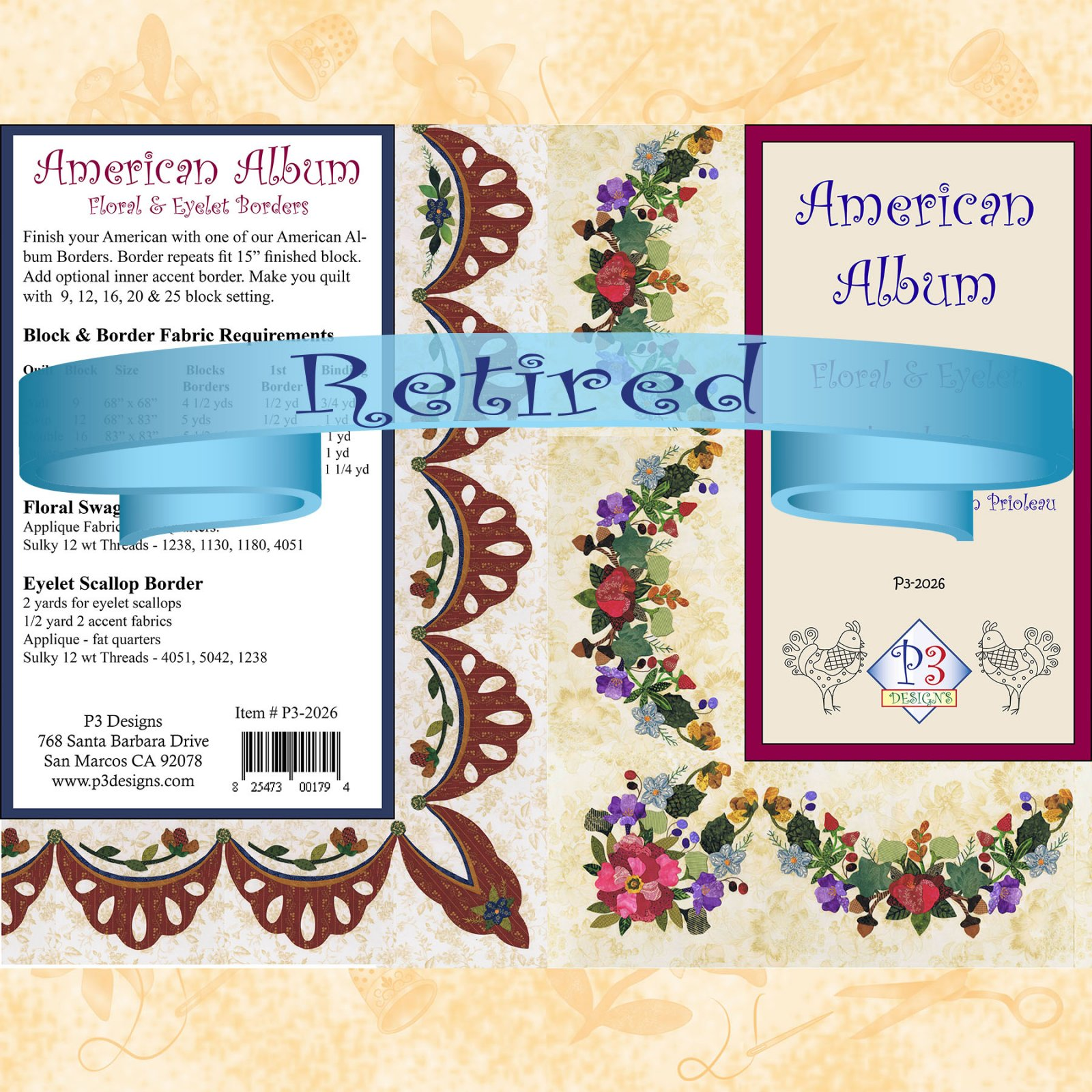 P3-2026 Floral Swag & Eyelet Borders