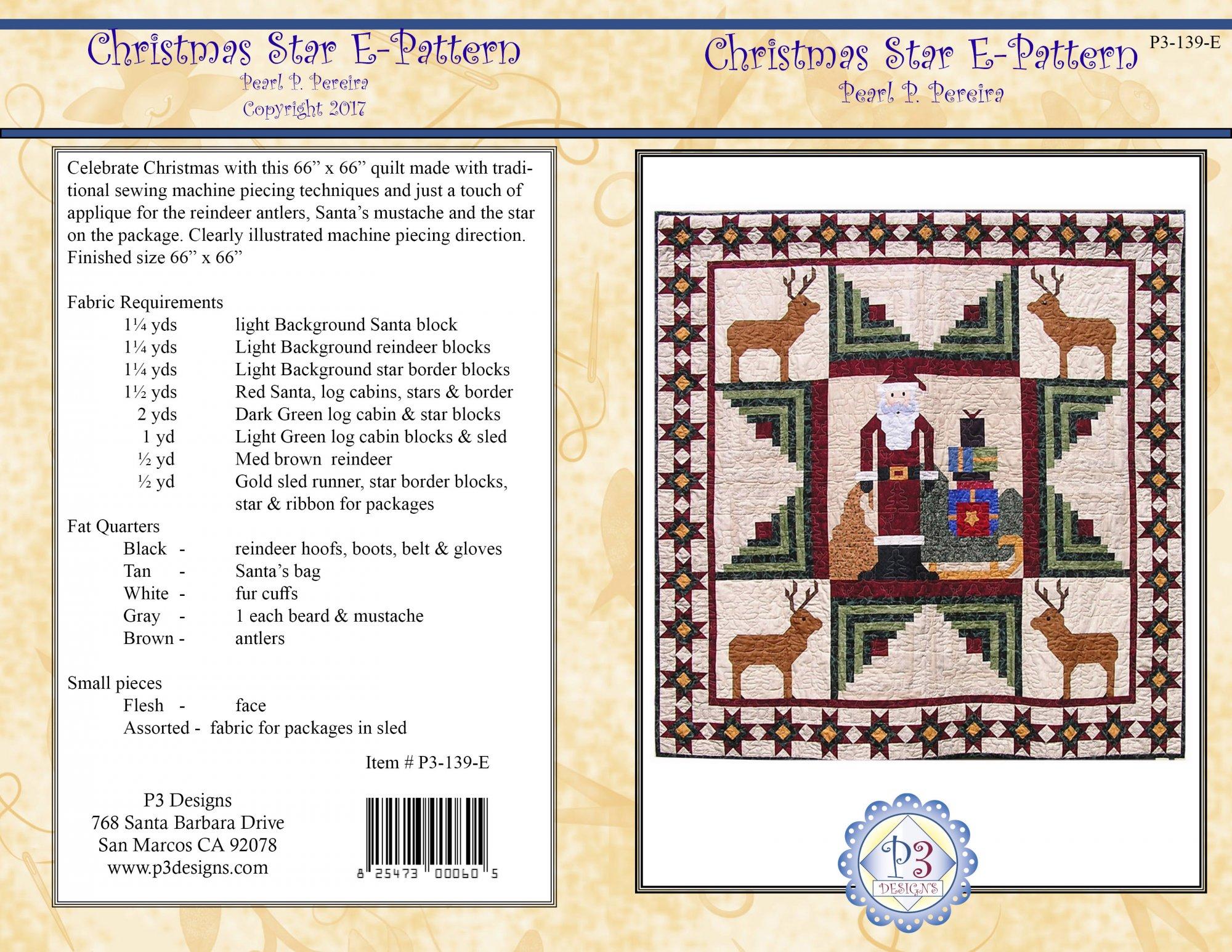P3-139-E Christmas Star Quilt PDF