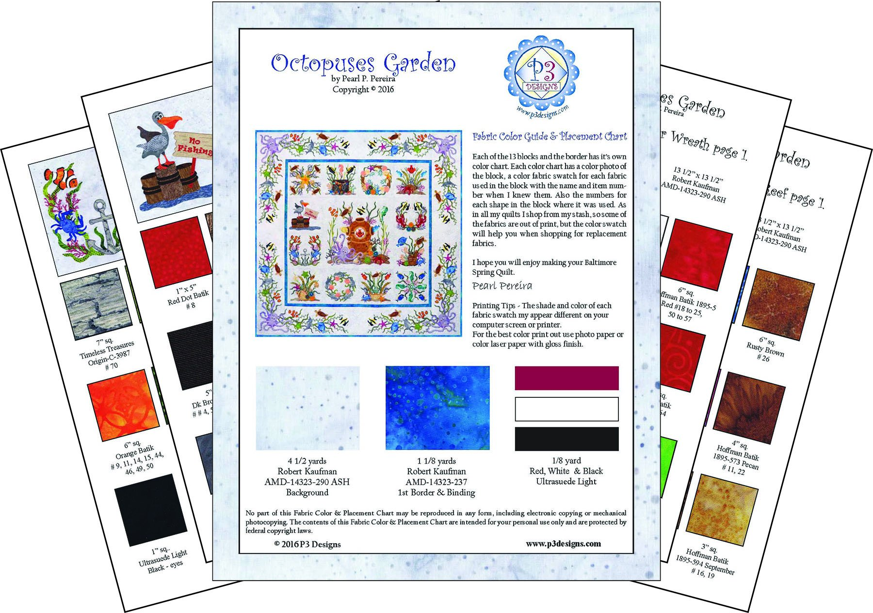 P3-2414 Octopuses Garden Color Guide PDF Download