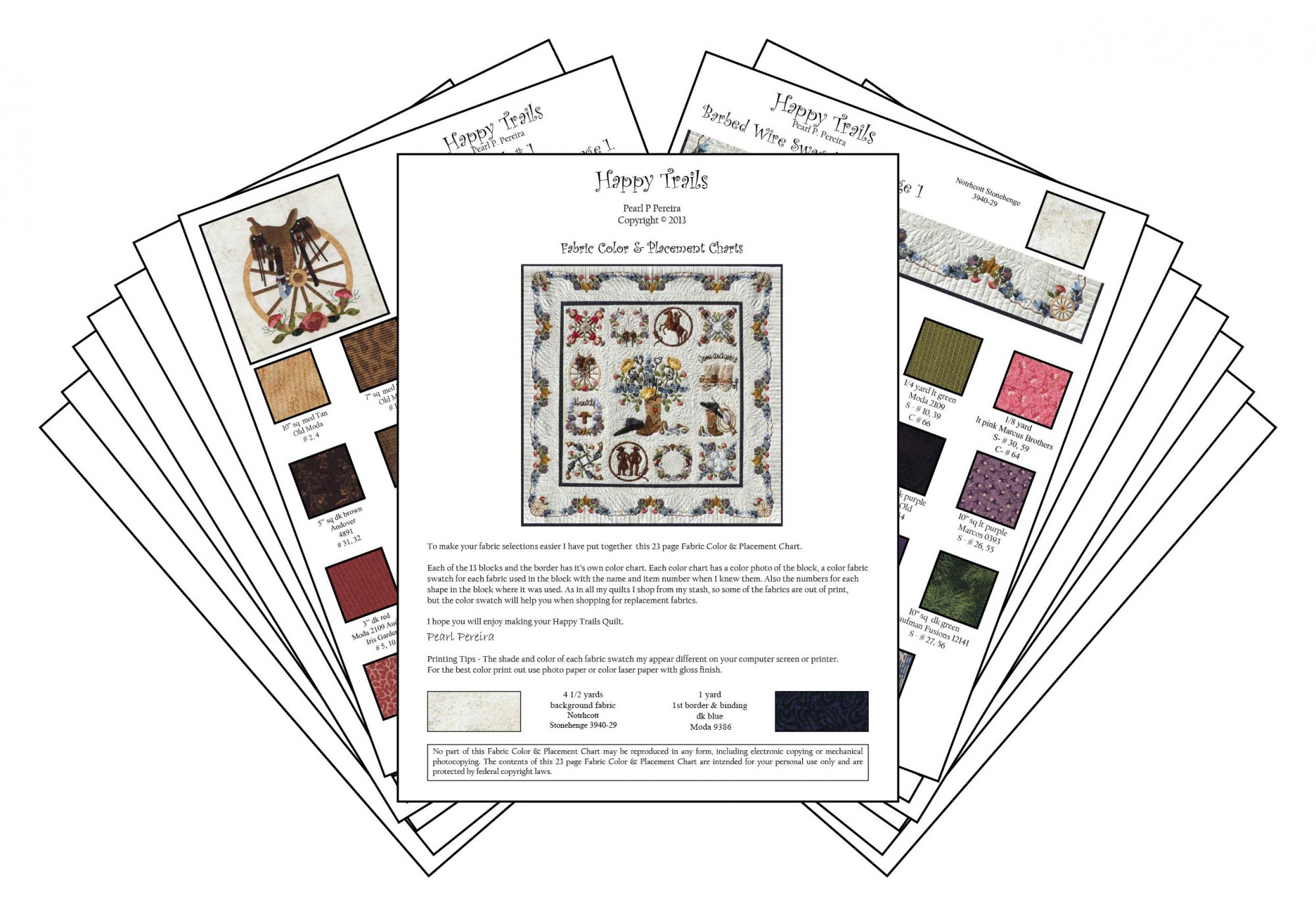 P3-1915 Happy Trails Color Charts PDF Download