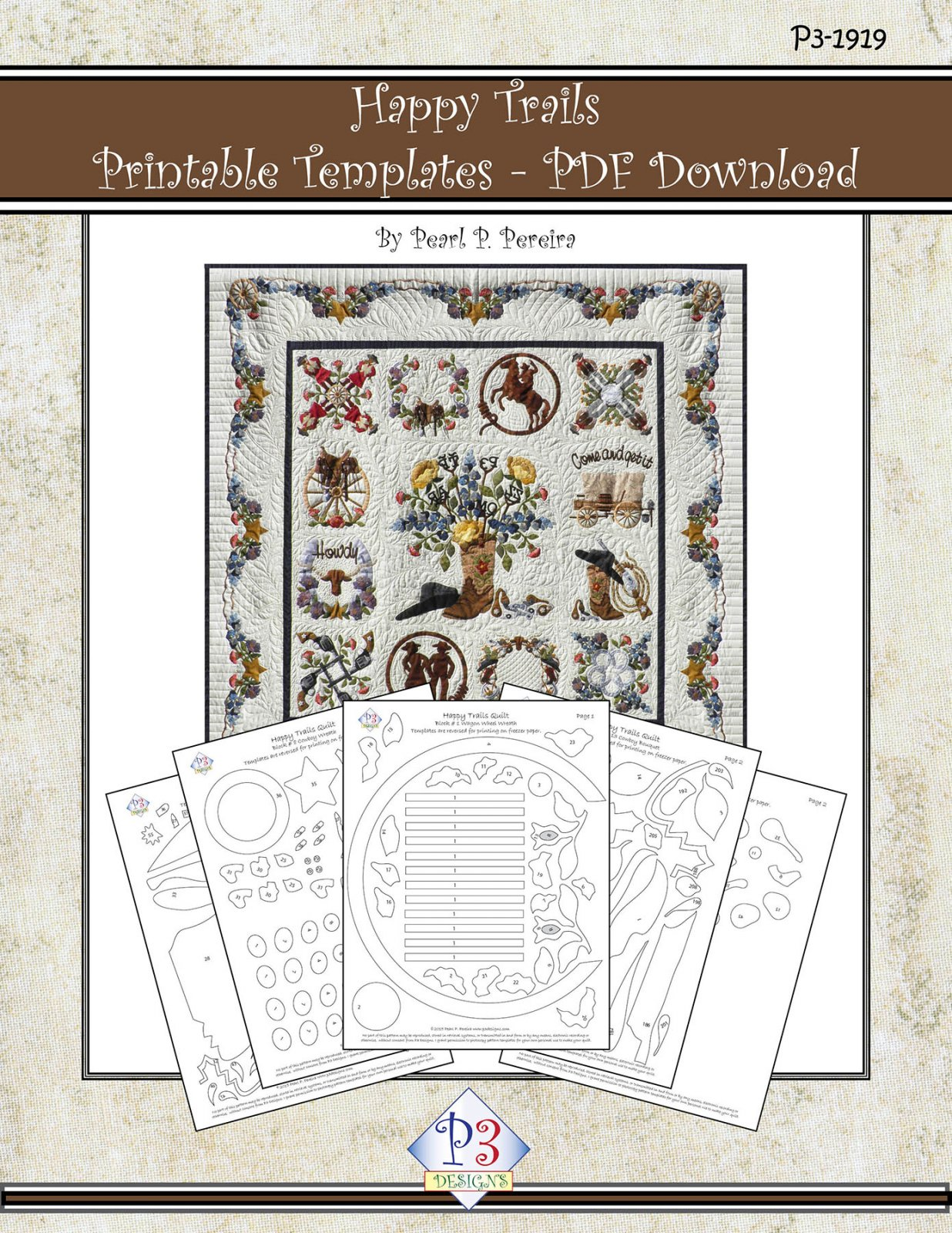 P3-1919 Happy Trails Printable Templates - PDF Download Only