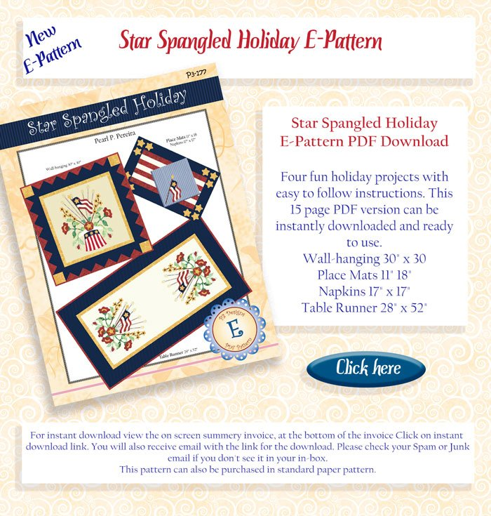 Star spangled holiday e pattern