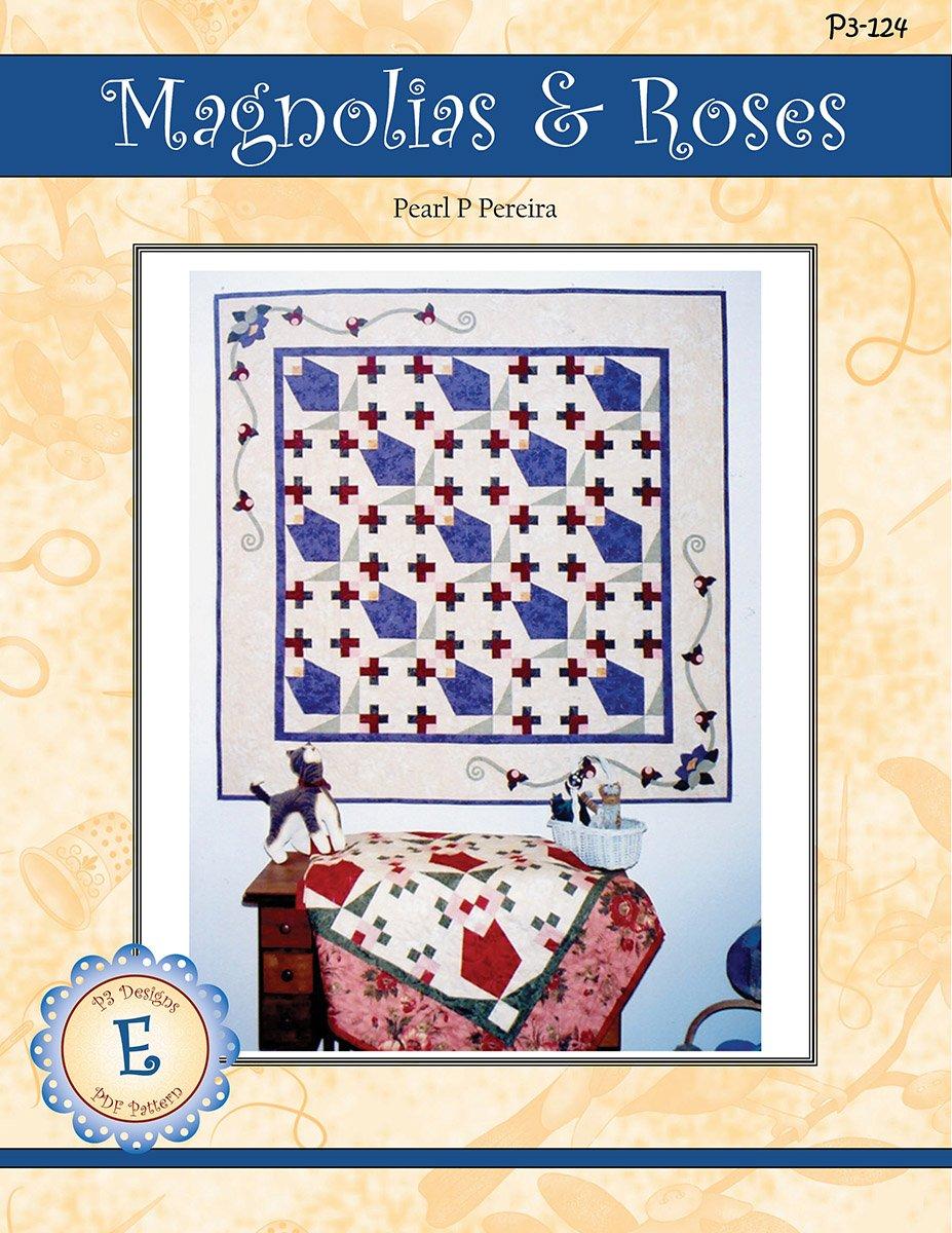 P3-124-E Magnolias & Roses E-Pattern