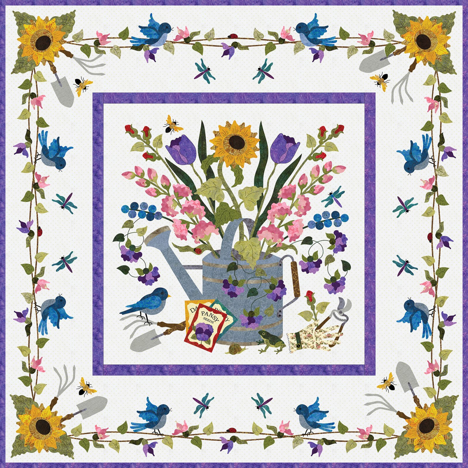 P3-171 Spring Bouquet Wall-Hanging