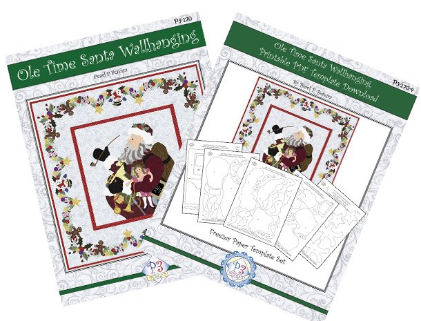 P3-170-Set Ole Time Santa Wallhanging Pattern & Printable Template PDF Download