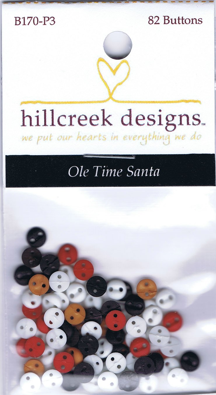 P3-170-1 Ole Time Santa Wallhanging Button Set