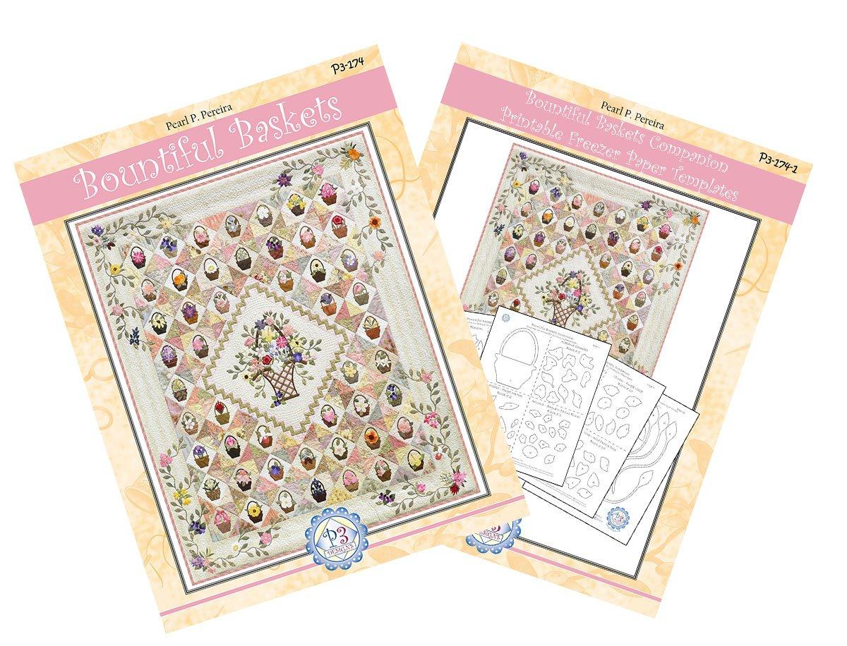 P3-174-Set Bountiful Baskets Quilt pattern & Companion Template PDF