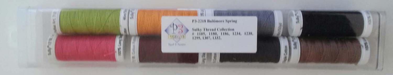 P3-2218 Baltimore Spring Sulky 12wt Thread Set
