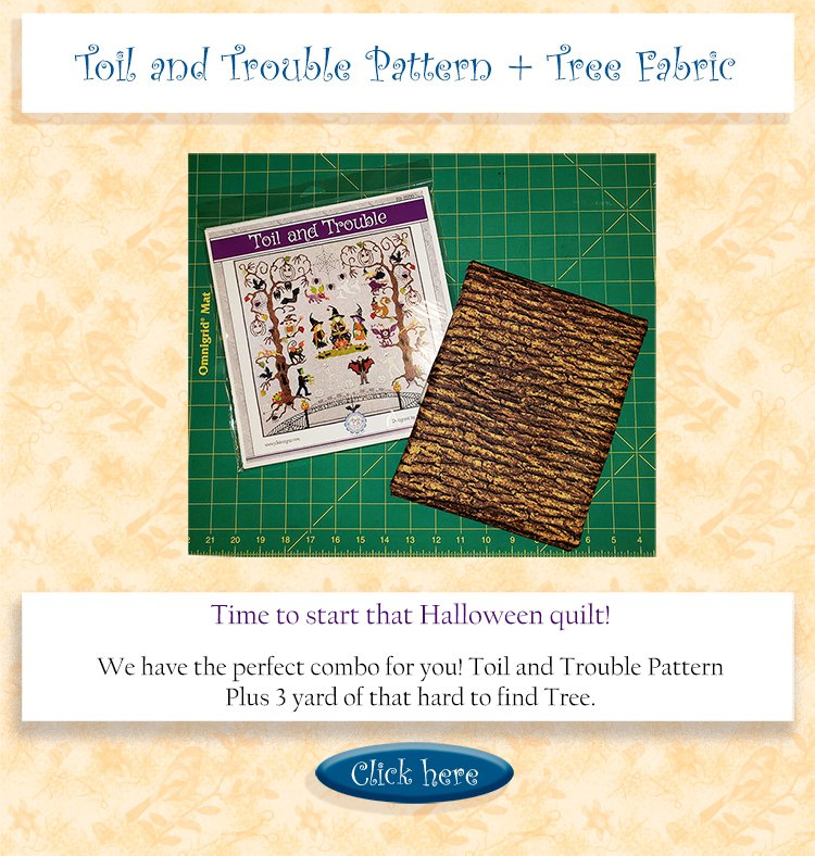 Toil and Trouble plus bark fabric