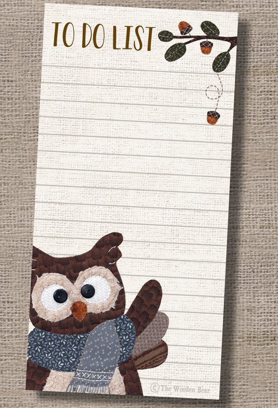 P3-508 Owl Note Pad