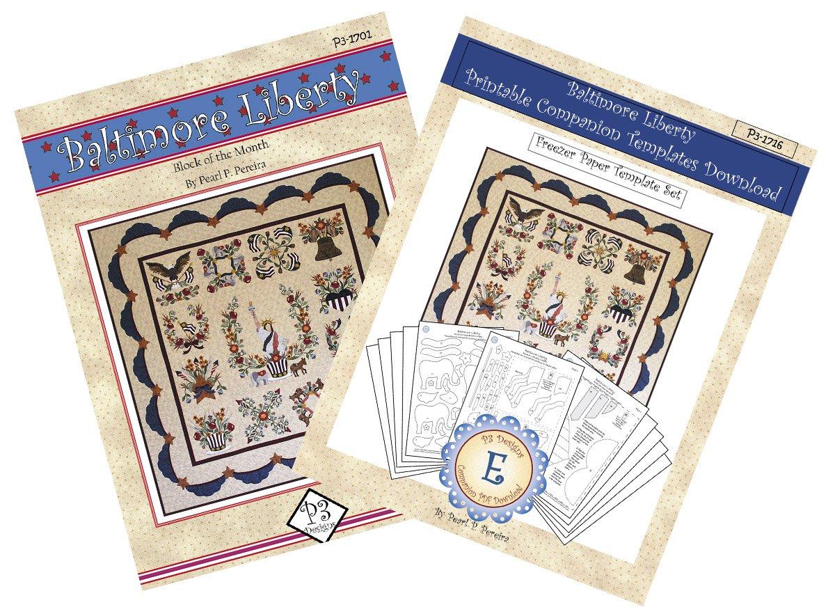 P3-1700-1 Baltimore Liberty Pattern Set & Companion PDF Template Download