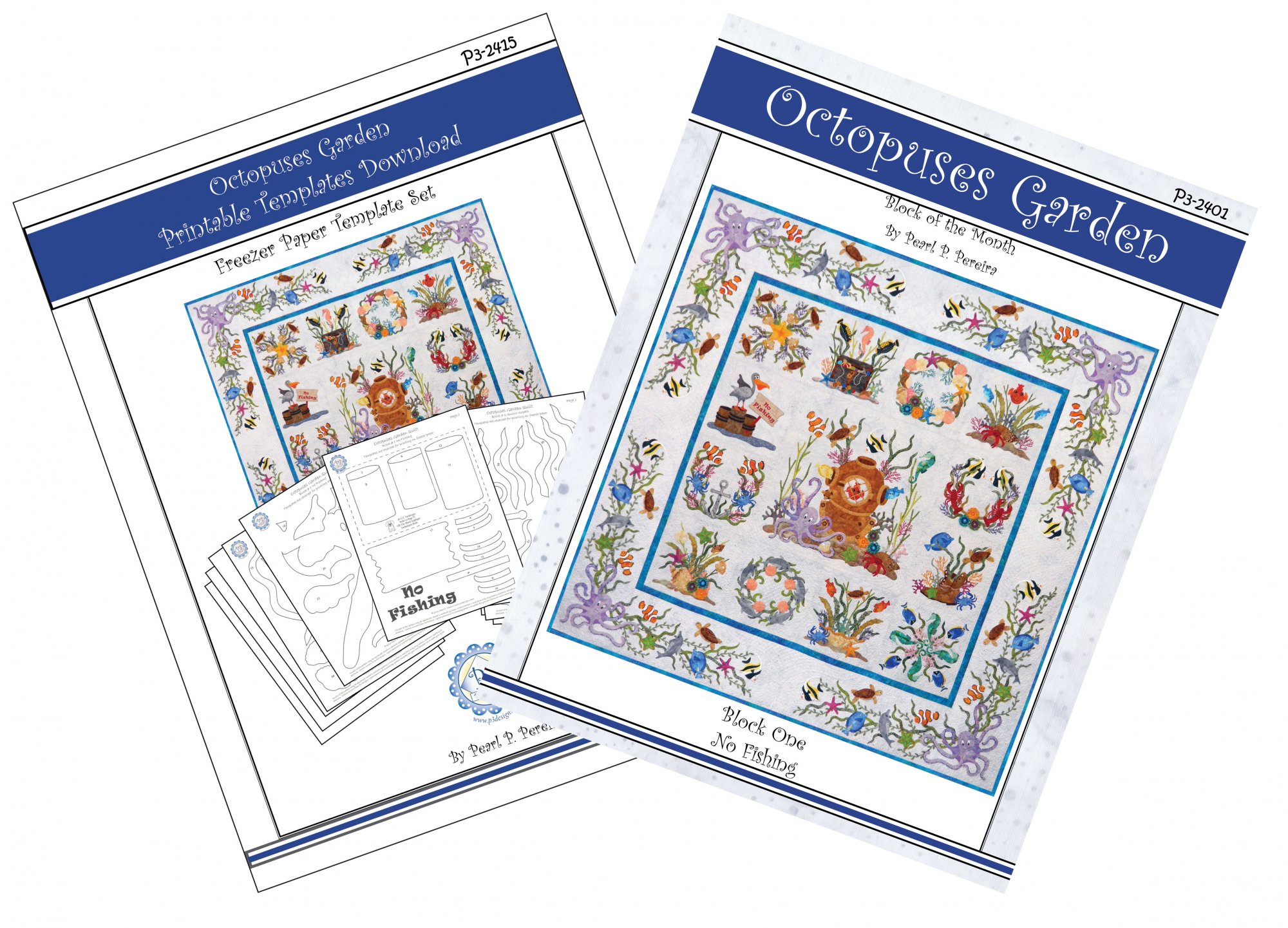 P3-2400-1 Octopuses Garden Pattern & Companion Template PDF Download