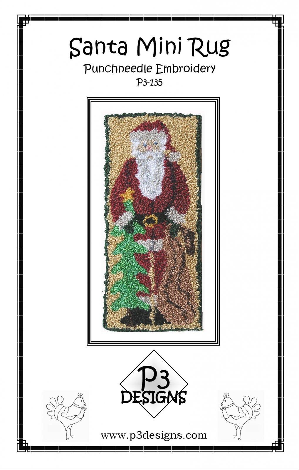 P3-135 Santa Punchneedle mini