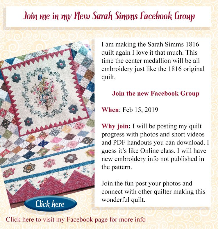 sarah simms facebook group