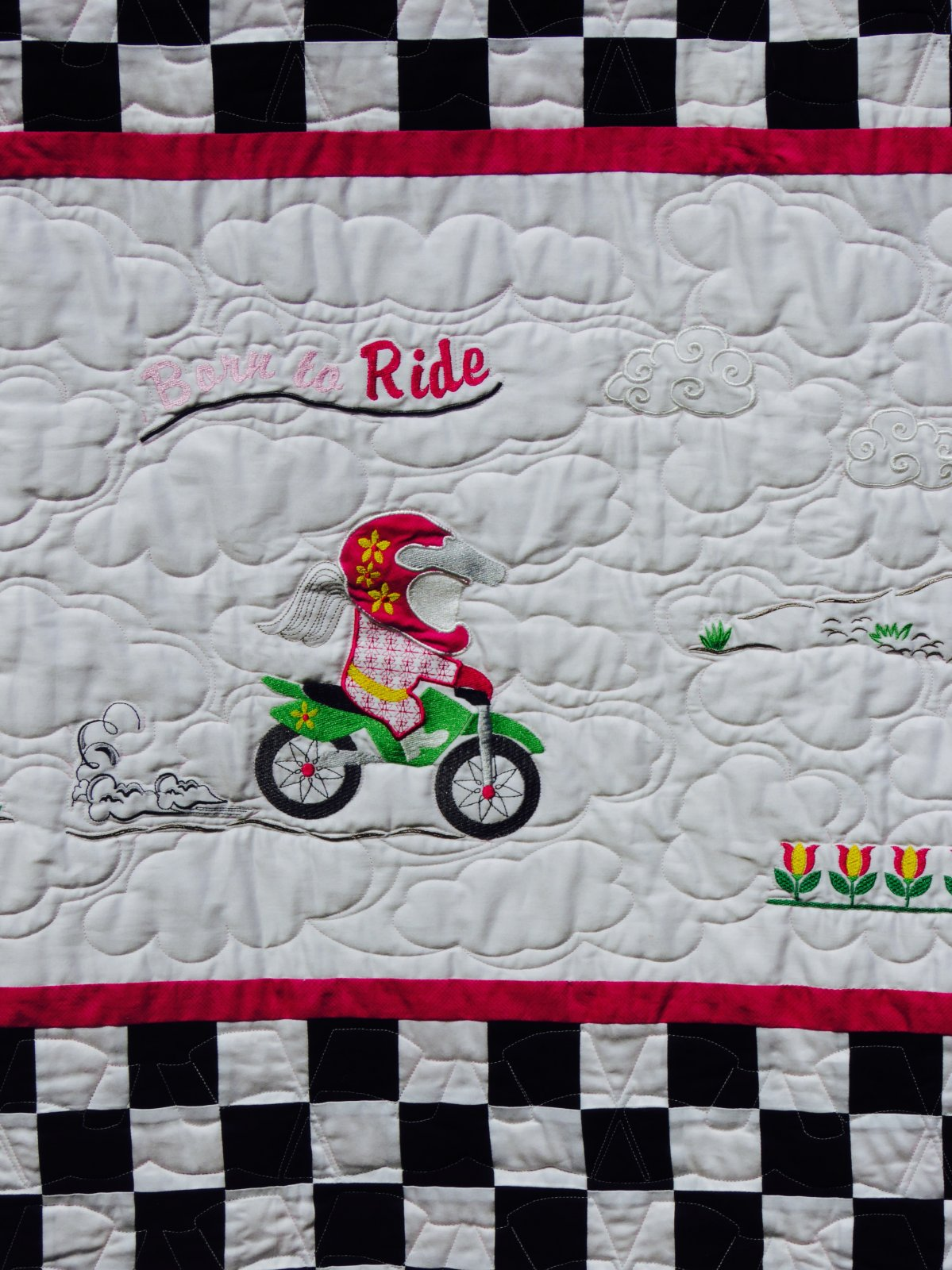 Baby Biker Born to Ride -Youth Quilt