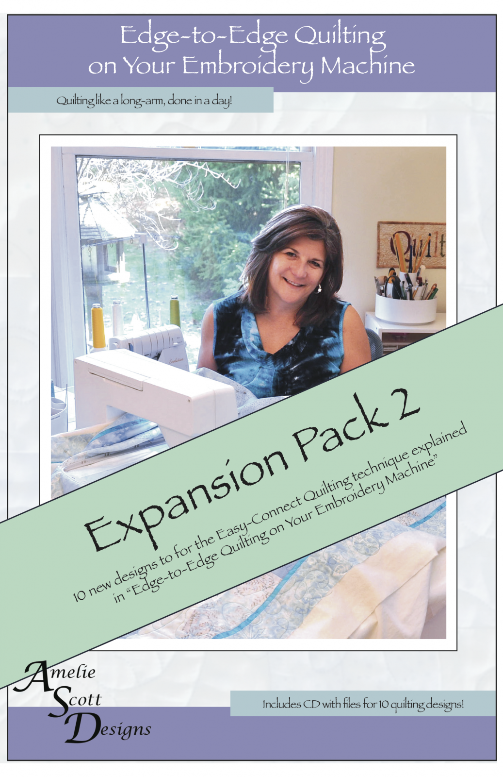 Edge-to-Edge Quilting on Your Embroidery Machine - Expansion Pack 2