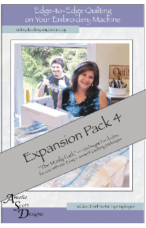 Edge-to-Edge Quilting on Your Embroidery Machine - Expansion Pack 4