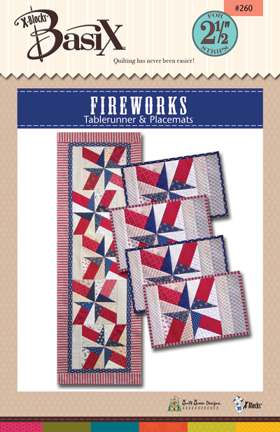 Fireworks - Tablerunner and Placemats - X-Blocks BasiX