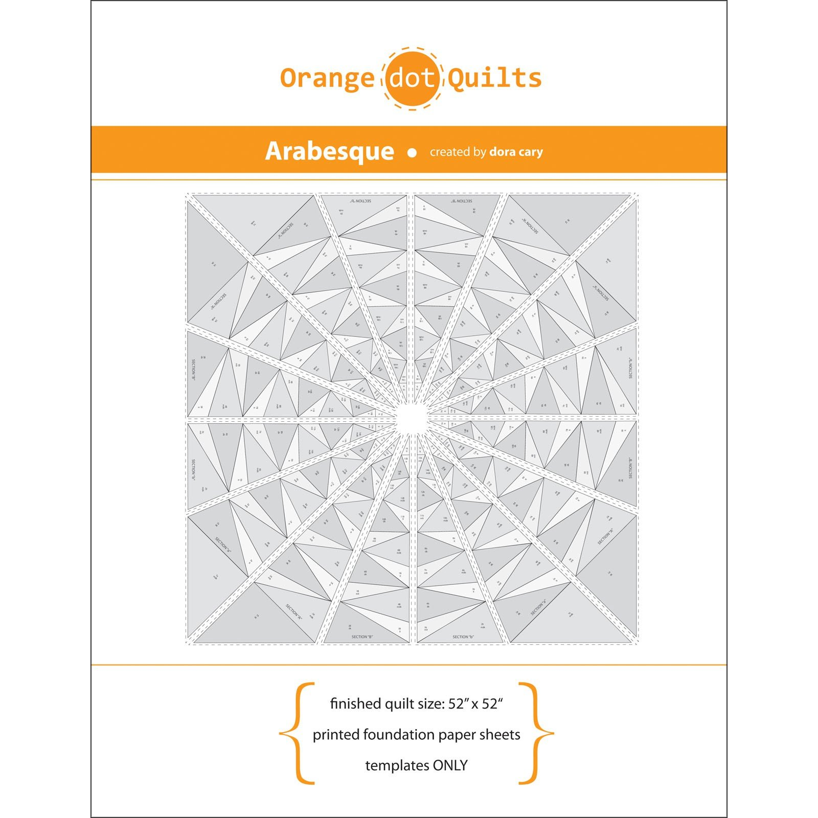 Arabesque printed foundation paper sheets - Templates Only