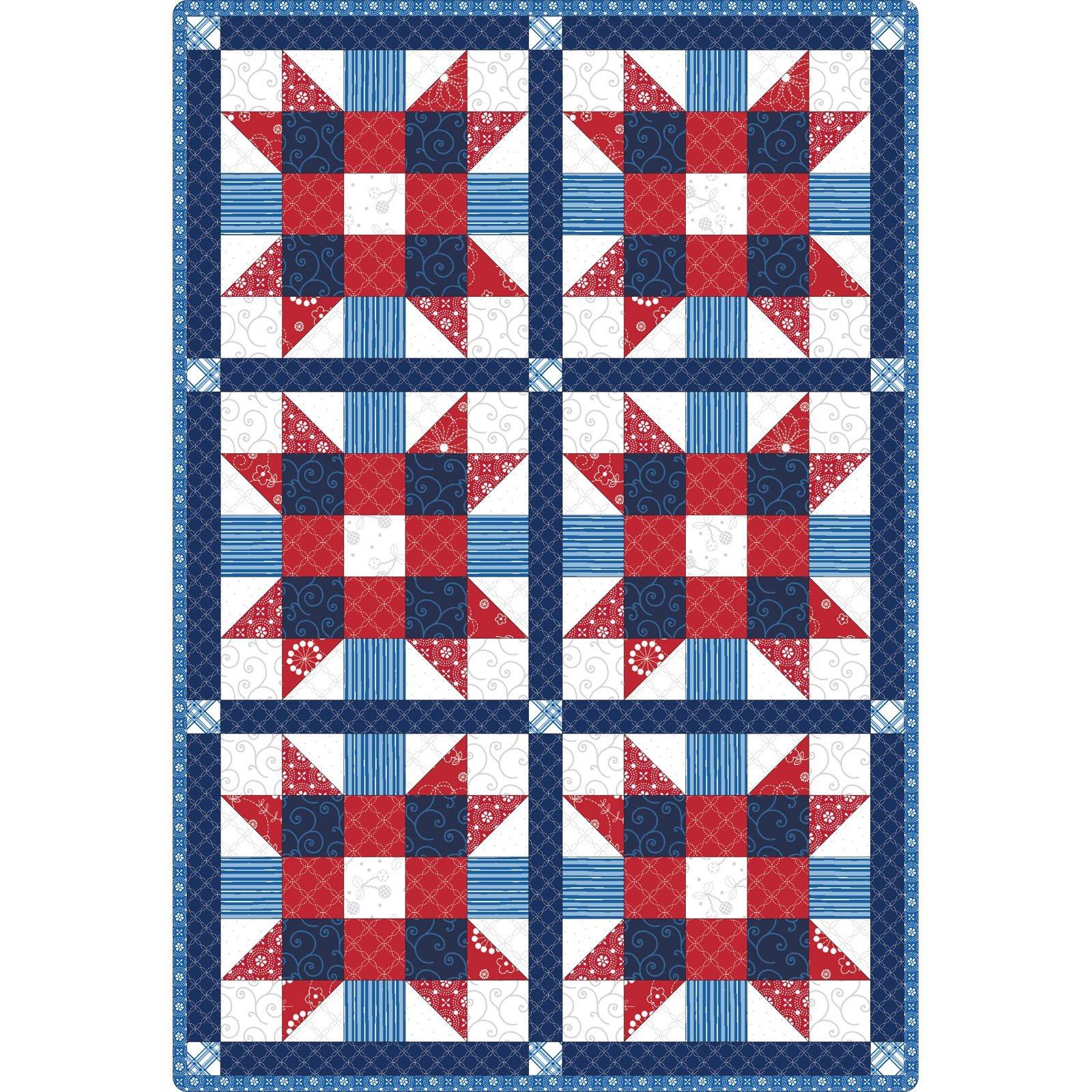 Kimber Bell Basics - Quilt Pod - 6 Block Quilt 32 X 47