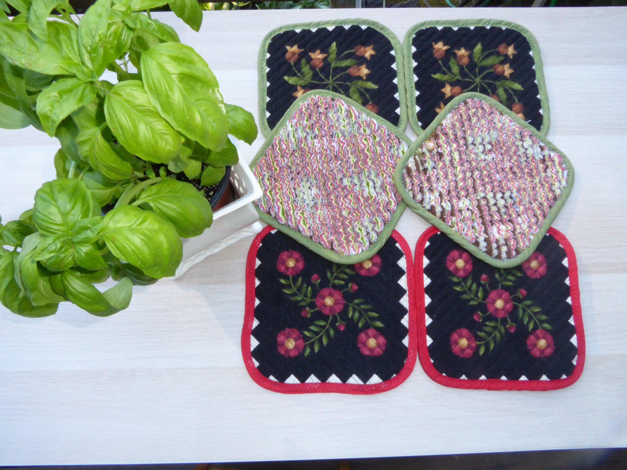 Chenille Pot Holders
