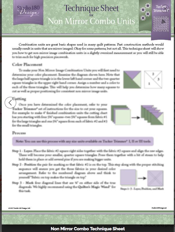 Technique Sheet - Non Mirror Combo Units