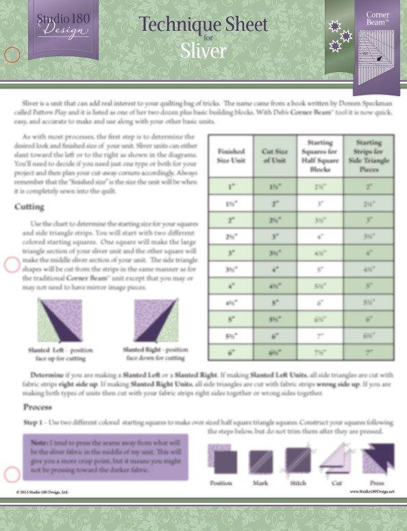 Technique Sheet - Sliver