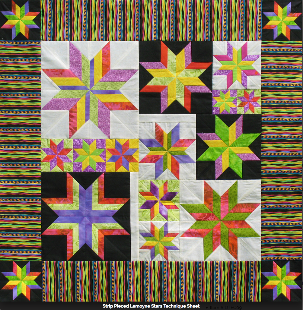 Technique Sheet - Strip Pieced Lemoyne Star