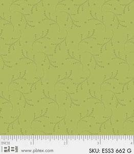 Bear Essentials 3 Dotted Vines Green ESS3-662-G