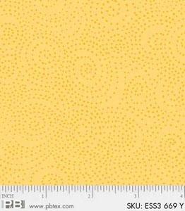 Bear Essentials 3 Swirl Dots Yellow ESS3-669-Y