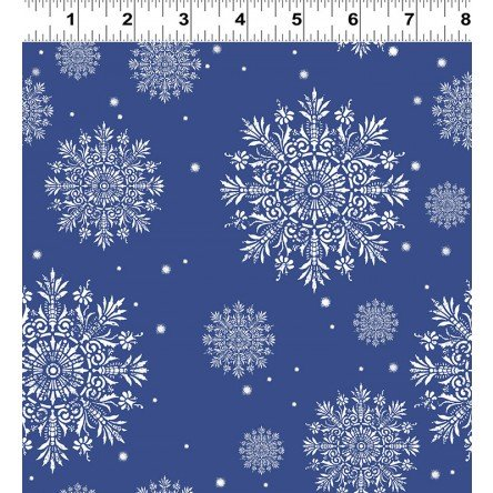 A Winter's Tale Snowflakes - blue/white Y2232-53