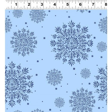A Winter's Tale Snowflakes - light blue Y2232-87