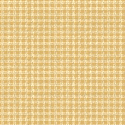 A Moose for Christmas Gingham - sand 1542-07