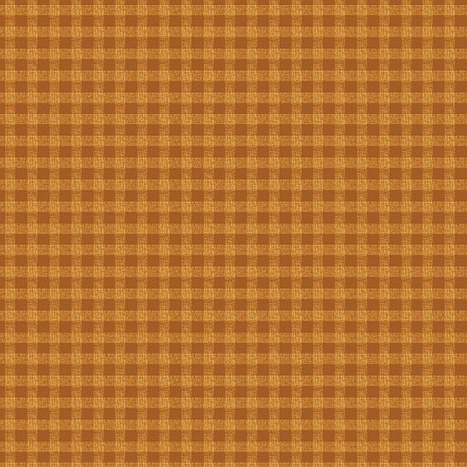 A Moose for Christmas Gingham - gold 1542-33